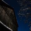 Scheune bei Mondlicht